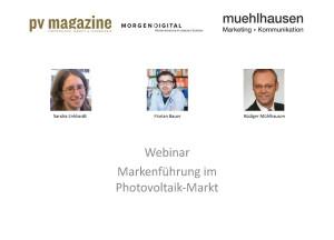 Markenführung im Photovoltaik-Markt